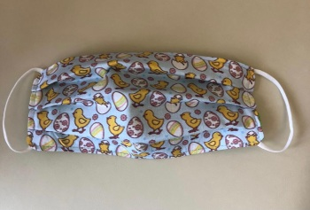 Adult's & Kid's Handcrafted Reusable Washable Fabric Face Mask Covering Raising Money For Mind Easter Chicks & Eggs