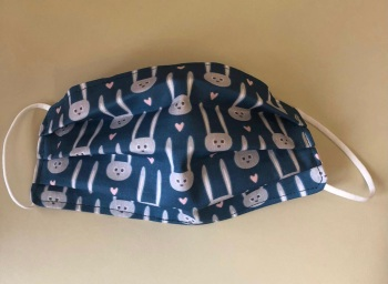 Adult's & Kid's Handcrafted Reusable Washable Fabric Face Mask Covering Raising Money For Mind Easter Bunnies & Hearts