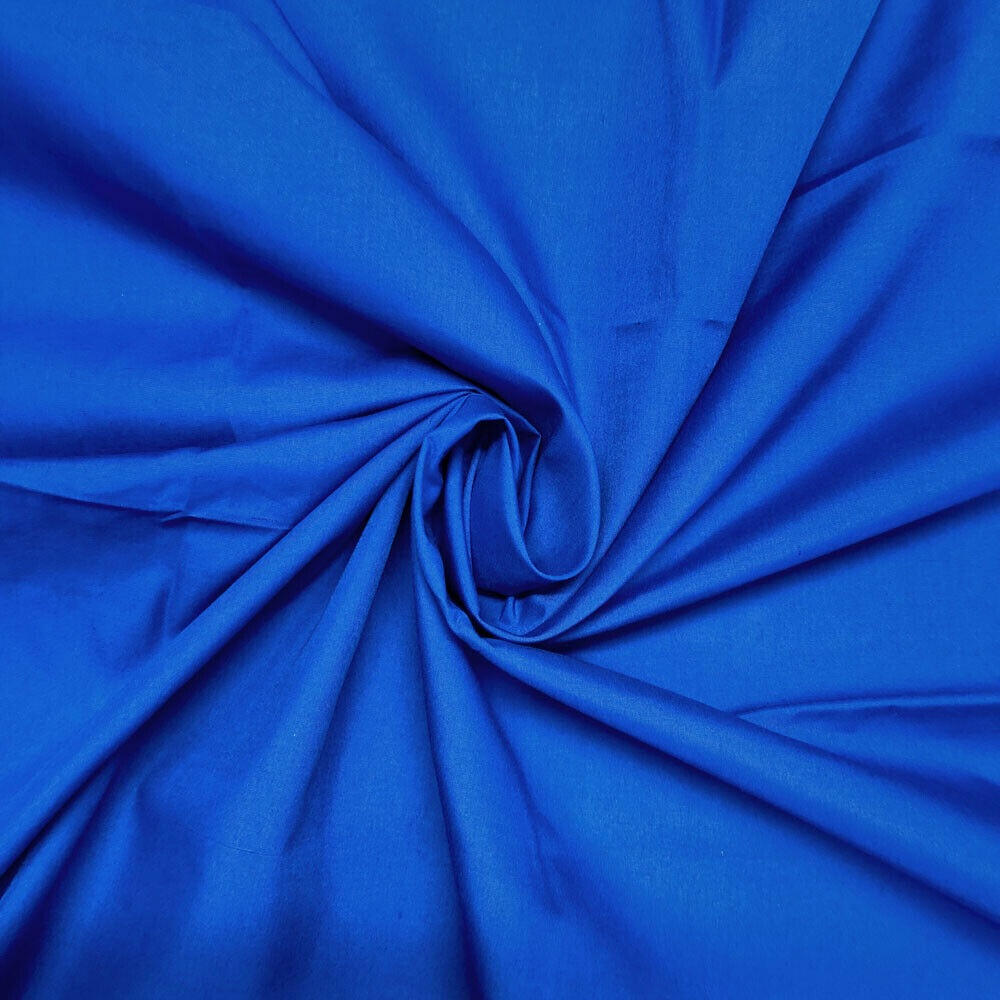 Plain 80/20 Polycotton Fabric 112cm By The Metre Royal Blue FREE DELIVERY