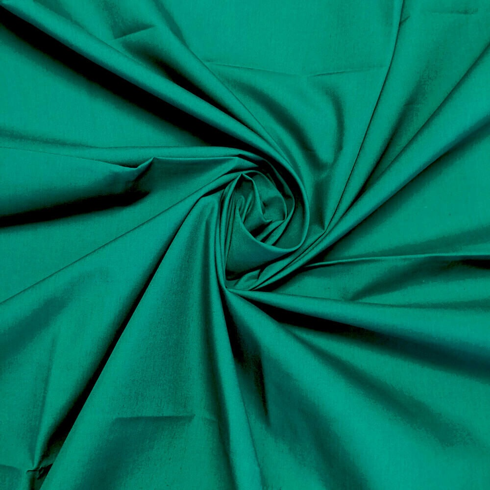 Plain 80/20 Polycotton Fabric 112cm By The Metre Emerald Green FREE DELIVER