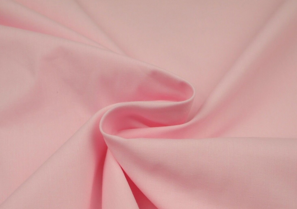 Plain 80/20 Polycotton Fabric 112cm By The Metre Baby Pink FREE DELIVERY