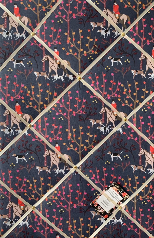 Custom Handmade Bespoke Fabric Pin Memo Notice Photo Cork Memo Board Navy B