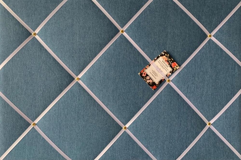 Custom Handmade Bespoke Fabric Pin Memo Notice Photo Cork Memo Board With M