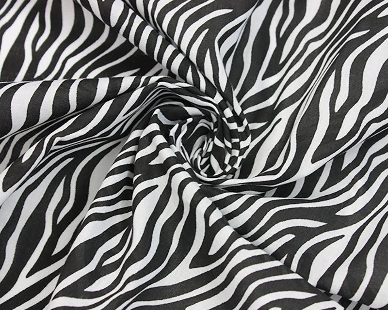 Zebra Animal Print 80/20 Polycotton Fabric 44