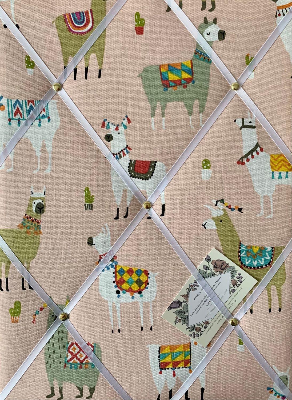 Custom Handmade Bespoke Fabric Pin Memo Notice Photo Cork Memo Board With P