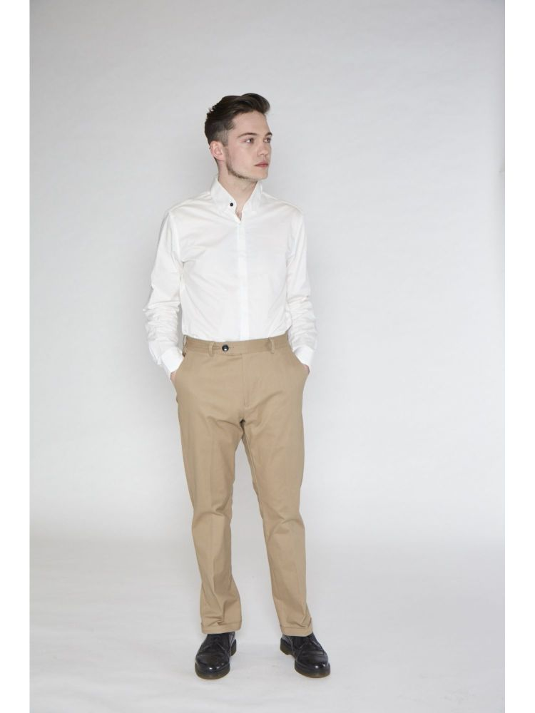 COLLECTIF Menswear Jack Smart Tailored Men's Chinos Camel