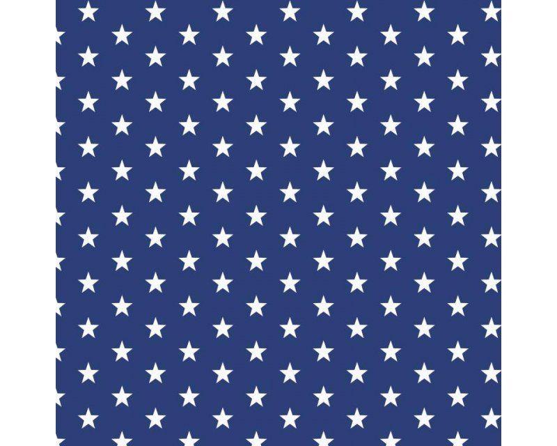 Stars 100% Cotton Royal Blue 145cm / 57