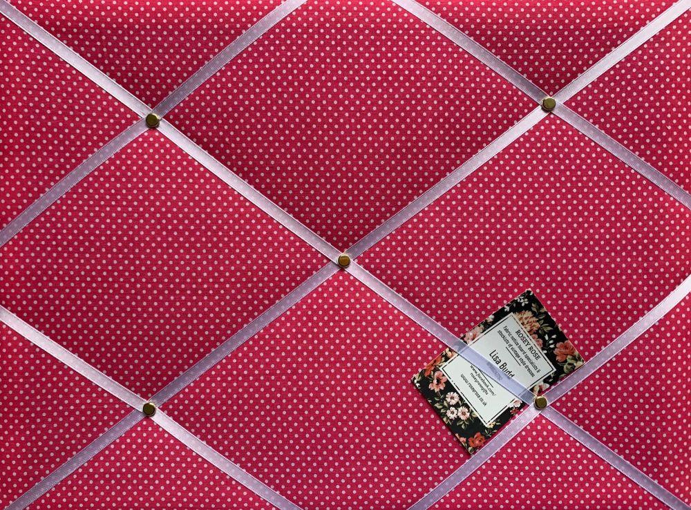 Custom Handmade Bespoke Fabric Pin Memo Notice Photo Cork Board With Bright