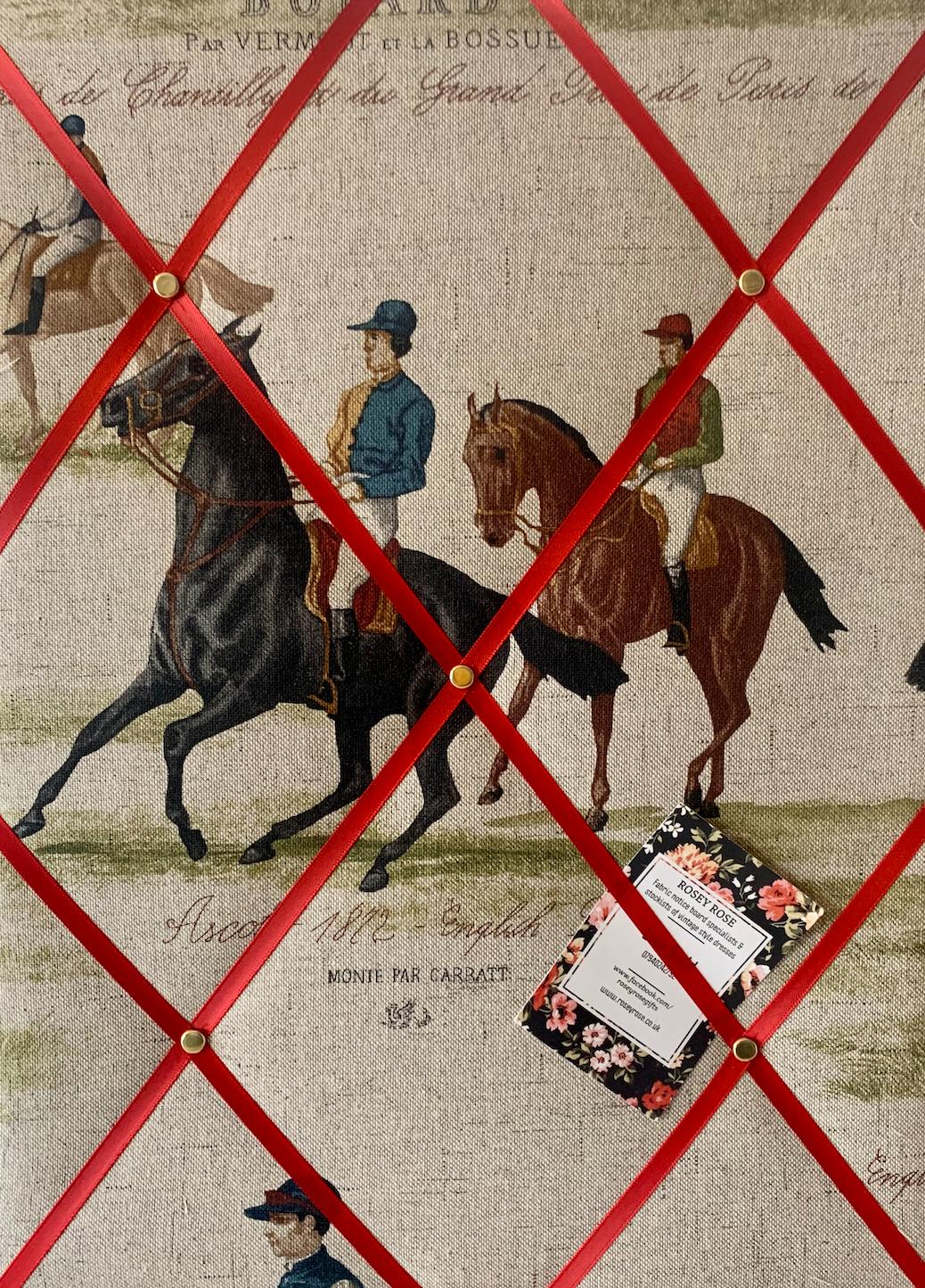 Custom Handmade Bespoke Fabric Pin Memo Notice Photo Cork Board With Vintag