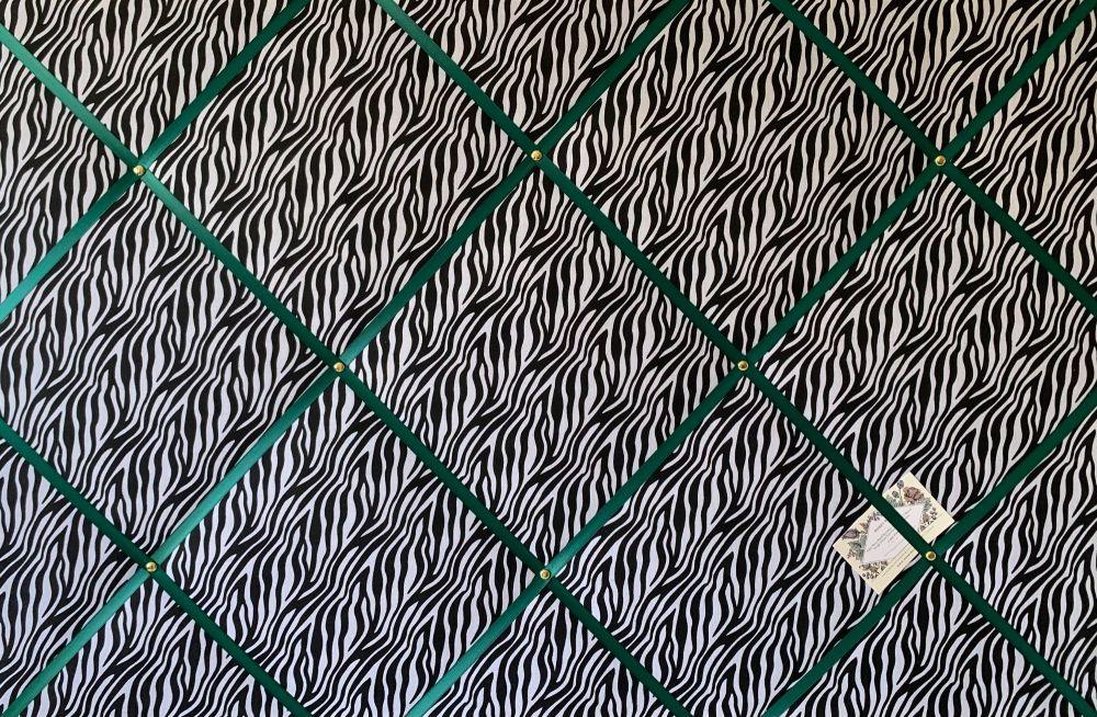 Custom Handmade Bespoke Fabric Pin Memo Notice Photo Cork Memo Board With B