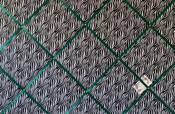 Custom Handmade Bespoke Fabric Pin Memo Notice Photo Cork Memo Board With Black & White Zebra Animal Print Choice of Sizes & Ribbon
