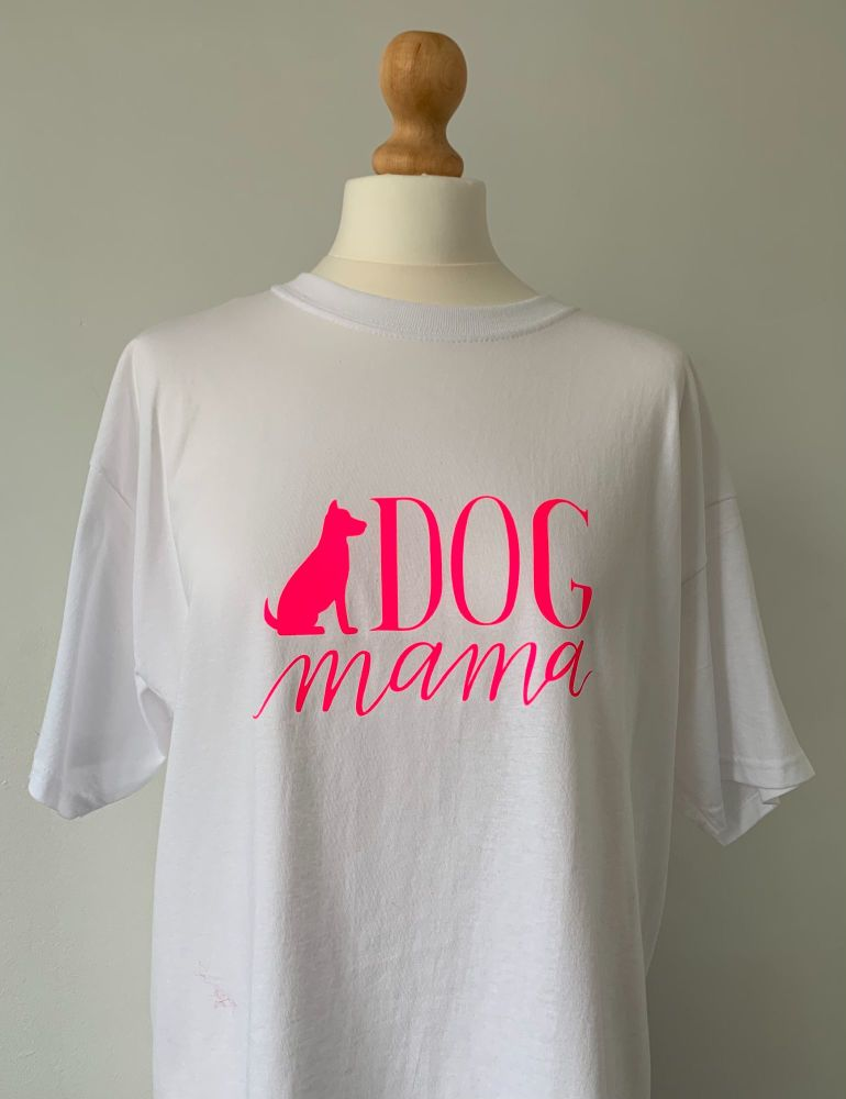 Customisable Men's / Women's T Shirt 'DOG MAMA'