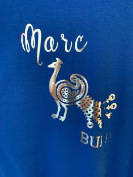 Customisable Men's / Women's T Shirt Peacock & Your Name in Large
