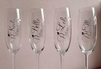Personalised Customised Prom / Special Occasion Glass - Choose colour, name, year & type of glass