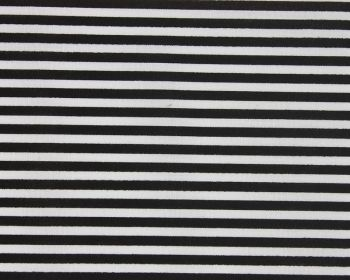 Black & White Stripes Polycotton 80/20 Fabric 44 inch By The Metre FREE UK DELIVERY