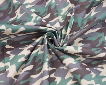 """Camo Army Combat Khaki Green Polycotton 80/20 44"""" By The Metre FREE UK Delivery"""