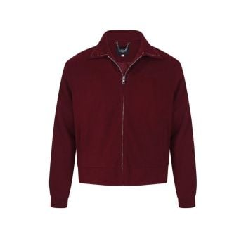 Collectif Menswear Jonathan Plain Iconic Ricky Red Jacket With Classic Saddle Stitching
