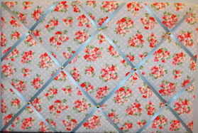Large Cath Kidston Cherry Blossom Hand Crafted Fabric Notice / Pin / Memo B