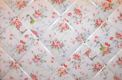 Large Cath Kidston Summer Blossom Hand Crafted Fabric Notice / Pin / Memo B