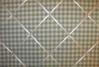 Large Laura Ashley Green Gingham Hand Crafted Fabric Notice / Pin / Memo Bo
