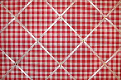 Large Laura Ashley Red Gingham Hand Crafted Fabric Notice / Pin / Memo Boar