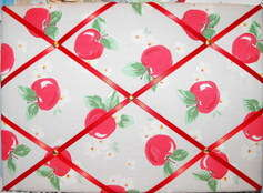 Medium Cath Kidston Apple Hand Crafted Fabric Notice / Pin / Memo Board