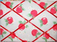 Medium Cath Kidston Apple Hand Crafted Fabric Notice / Pin / Memo Board