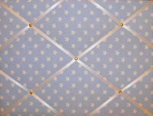 Medium Cath Kidston Blue Star Hand Crafted Fabric Notice / Pin / Memo Board