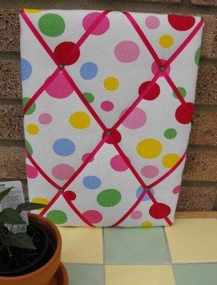 Medium Cath Kidston Bubbles Hand Crafted Fabric Notice / Pin / Memo Board