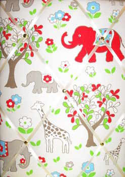 Medium Cath Kidston Circus Elephant Hand Crafted Fabric Notice / Pin / Memo