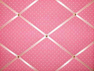 Medium Cath Kidston Pink Mini Dot Hand Crafted Fabric Notice / Pin / Memo B