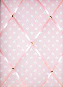 Medium Cath Kidston Pink Star Hand Crafted Fabric Notice / Pin / Memo Board