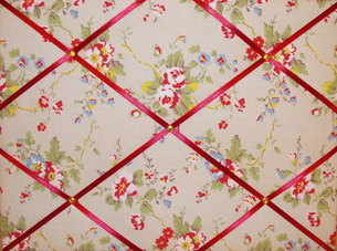 Medium Cath Kidston Summer Blossom Hand Crafted Fabric Notice / Pin / Memo