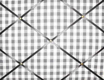 Medium Laura Ashley Charcoal Gingham Hand Crafted Fabric Notice / Pin / Mem