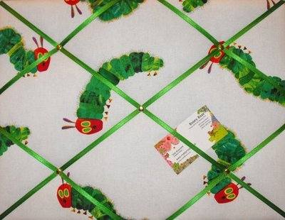 Medium Hungry Caterpillar Hand Crafted Fabric Notice / Memory / Pin / Memo