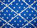 Medium 40x30cm Blue & White Star Hand Crafted Fabric Notice / Pin / Memory / Memo Board