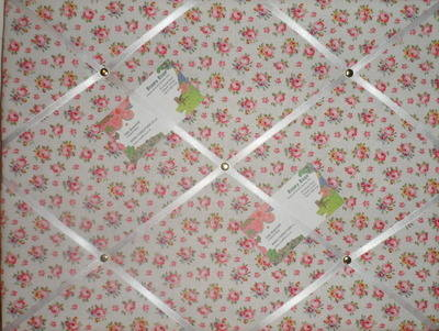 Medium Cath Kidston Hampton Rose Hand Crafted Fabric Notice / Pin / Memo Bo