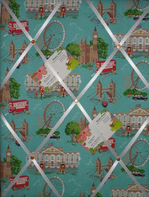Medium Cath Kidston London Scene Hand Crafted Fabric Notice / Pin / Memo Bo
