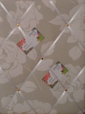 Medium Cath Kidston Mono Rose Hand Crafted Fabric Notice / Pin / Memo Board