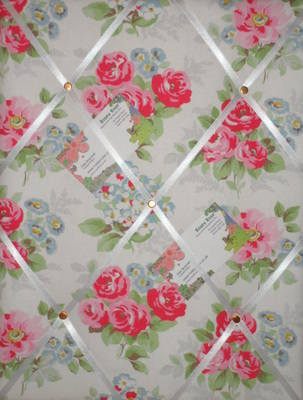 Medium Cath Kidston Regal Rose Hand Crafted Fabric Notice / Pin / Memo Boar