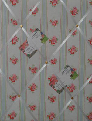 Medium Cath Kidston Rose Stripe Hand Crafted Fabric Notice / Pin / Memo Boa