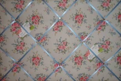 Large Cath Kidston Pinny Flowers Hand Crafted Fabric Notice / Pin / Memo /