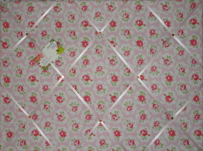 Large Cath Kidston Pink Provence Rose Hand Crafted Fabric Notice / Pin / Me