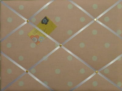 Medium Laura Ashley Pink Polka Dot Hand Crafted Fabric Notice / Pin / Memo