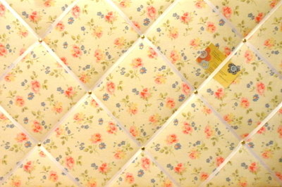 Large Cath Kidston Cut Roses Hand Crafted Fabric Notice / Pin / Memo Board