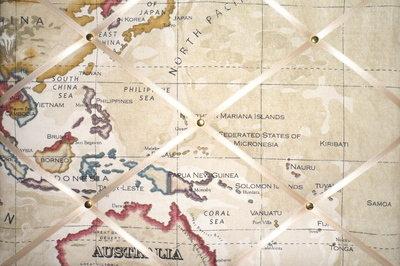 Medium Clarke & Clarke Stone Map Atlas Australia, Malaysia, North Pacific H