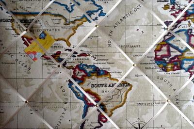Large Clarke & Clarke Stone Atlas Map America Brazil North Atlantic etc Han