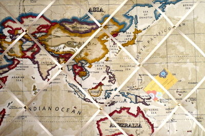 Large Clarke & Clarke Stone Atlas Map Australia, China, Asia, Indian Ocean
