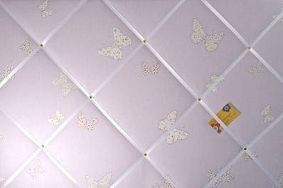 Extra Large Laura Ashley Lilac Bella Butterfly Hand Crafted Fabric Notice /