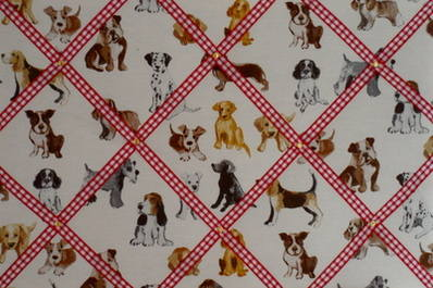 Large Prestigious Hot Dogs Hand Crafted Fabric Memory / Notice / Pin / Memo